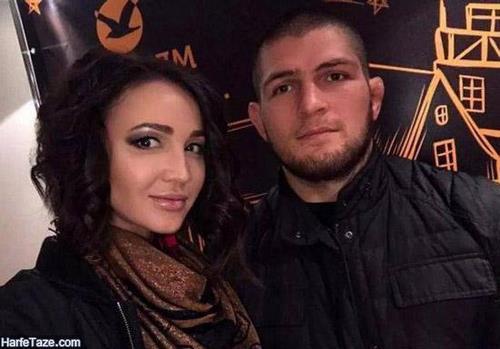 حبیب نورماگومدوف و همسرش